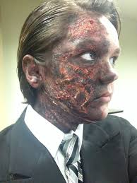 Batman Halloween Makeup by A Better Look At The Burned Side Of Two Face From Batman Harvey