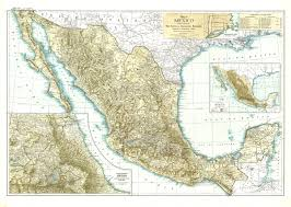 me a map of mexico national geographic mexico map 1916 maps com