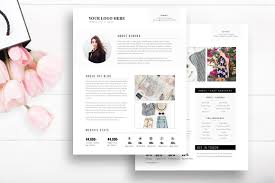 media kit template 2 page stationery design and photography