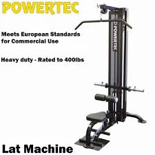 powertec lat machine lat pulldown p lm16 machine seated row home