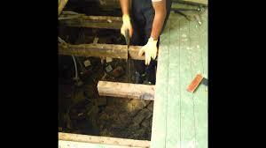 Rotten Bathroom Floor - diy how to replace rotten joists and flooring youtube