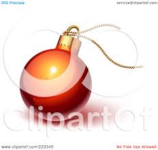royalty free rf clipart illustration of a shiny red christmas