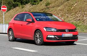 volkswagen polo red 2018 volkswagen polo spy shots and video