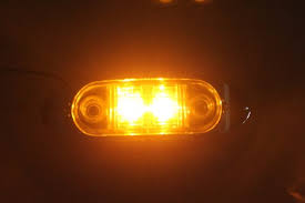 8 8 led oval clearance side marker light with chrome