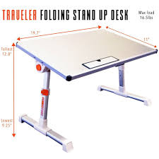 traveler folding stand up desk stand steady