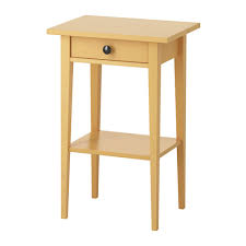 Yellow Side Table Ikea Hemnes Bedside Table Yellow 46x35 Cm Hemnes Solid Wood And