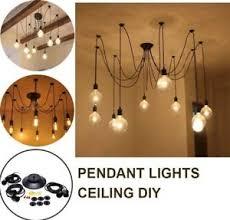 10 bulb lights edison spider chandelier suspension ceiling pendant