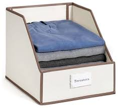 collapsible clothing storage bin with flip front panel