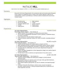 Sample Resume For Customer Service download customer service call center resume