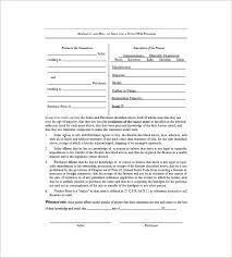 fire arm bill of sale template u2013 8 free word excel pdf format