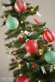 christmas tree decorations with washi tape u0026 bakers twine