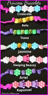 the activity mom superhero and princess bracelets