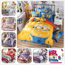 cartoon 3d bedding set minions mickey mouse hello kitty printed