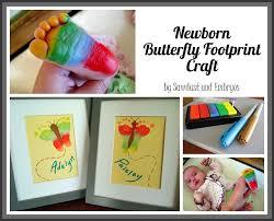 baby footprint butterfly artwork top diy ideas