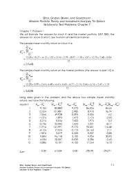 chapter 07 solutions manual beta finance covariance