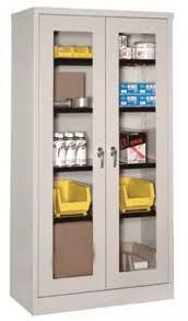 industrial glass door storage cabinets steel cabinets metal cabinet with plastic bins