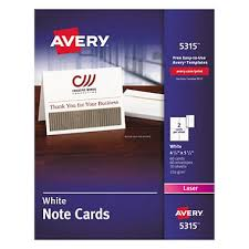 sams club business cards avery 5315 note cards laser white 60 cards sam s club