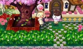acnl shrubs outdoor hacked town tree in front of house w bushes for a fence