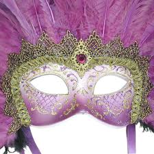 purple mask venetian mask in london for purple grand moulin feathered
