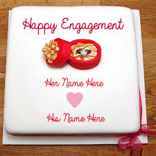 happy engagement card write name on engagement wish greeting card pics