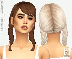 leo braiding hair sims 4 braid tumblr
