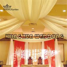 wedding backdrop canopy silk roof ceiling panel backdrop canopy drapery curtain for