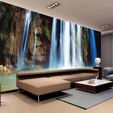 online get cheap wall mural designs aliexpress com alibaba group large 3d wall stickers cliff water falls art wall mural floor decals creative design for home