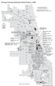 Map Chicago by Chicago Housing Authority Family Projects Postwar Landscapes Of