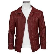 https www stylish 10 best fight club brad pitt red stylish jacket leather coat