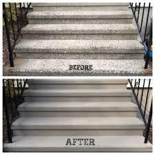 spring update resurfaced u0026 repainted concrete steps sole grace