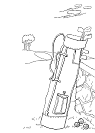golf stuff sports coloring pages sport coloring pages of