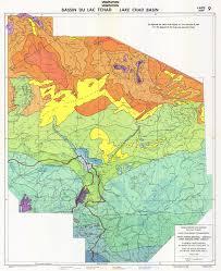 Chad Map Bassin Du Lac Tchad Végétation Carte 9 Lake Chad Basin