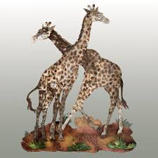 sahara pride giraffe metal wall sculpture