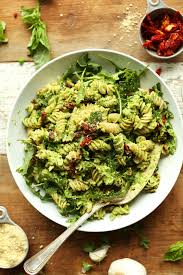 pea pesto pasta with sun dried tomatoes minimalist baker recipes