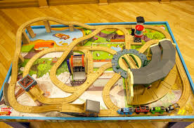 thomas the train wooden track table thomas train table track set editorial stock photo image of wood