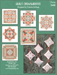 quilt ornaments counted cross stitch pattern