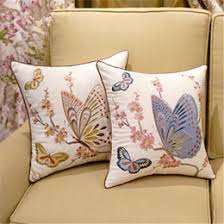 Factory Direct Home Decor Cheap Pillow Cushion Cover Buy by Discount Embroidered Sofa Fabrics 2018 Embroidered Sofa Fabrics
