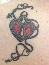 heart tattoo designs with kids names tattoos pinterest heart