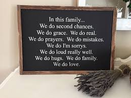 family wood sign home decor in this family we do wooden sign handmade sign home decor