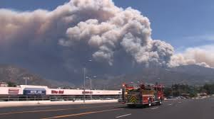 Wildfire Yoga Lexington Ky by Smoke From The 2009 Station Fire Viewed From Marina Del Rey Over