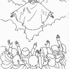 coloring page of jesus ascension coloring page of jesus ascending into heaven archives mente beta