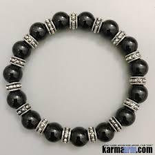 black onyx silver bracelet images Men 39 s bracelets energy black onyx bali silver yoga chakra bracelet jpg