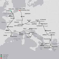 Europe Capitals Map by Eastern Europe Tours Cosmos Budget Tours