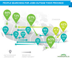Canada Map With Provinces by Infographic Where Are Canadians Looking For Work Workopolis