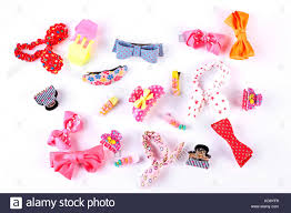 kids hair accessories beautiful collection of kids hair accessories stock photo