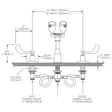 Speakman Faucet Parts Speakman Eyesaver Classic Widespread Eyewash Faucets Speakman