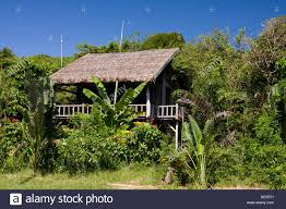 simple palm bungalow on mango bay beach phu quoc island vietnam