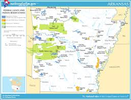 map of arkansas map of arkansas map federal lands and indian reservations