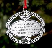 personalized remembrance ornaments memorial ornaments
