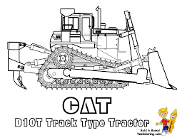 caterpillar bulldozer coloring page throughout coloring pages